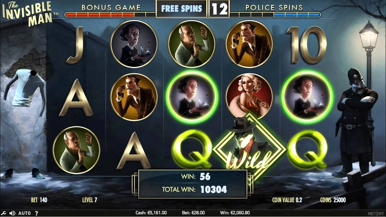 invisible man slot review