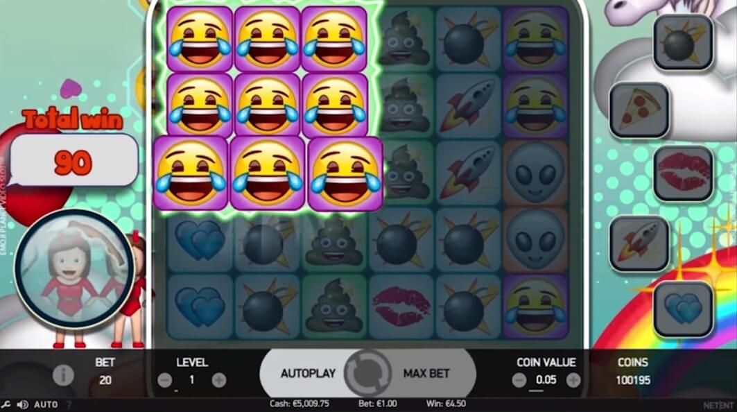 emoji planet slots features