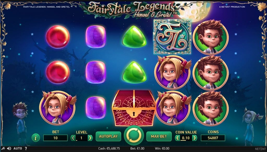 fairy tale legends hansel and gretel slot